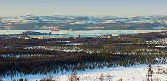 Bucht des Barents-Meeres Stockfoto