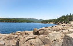 Bucht im Acadia-Nationalpark Stockfoto