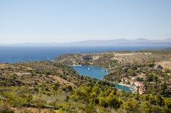 Bucht im adriatischen Meer in Kroatien lizenzfreie stockfotografie
