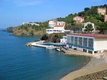 Bucht im Cerbere Dorf Lizenzfreies Stockfoto