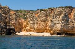 Bucht im Süden von Portugal, in Algarve stockfotos