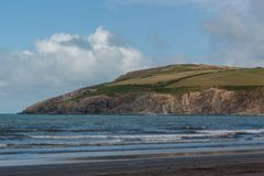 Bucht-Landschaft mit Meer Stockbilder