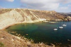 Bucht in Malta Stockfotos