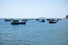 Bucht mit Fischerbooten Lizenzfreies Stockbild