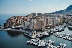 Bucht Monaco Lizenzfreie Stockbilder