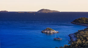 Bucht nahe Kas, die Türkei abend Stockfotos