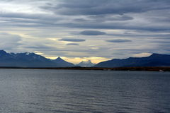 Bucht nahe Puerto Natales Stockbild