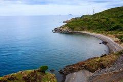 Bucht Nha Trang, Vietnam Sehen Sie von Landstraße Pham Van Dongs 657 an Lizenzfreies Stockbild