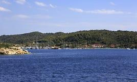 Bucht at the Ormos Panagias Stock Photo