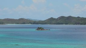 Bucht-Panorama Seychellen Cote d'Or stock footage