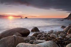 Bucht Porth Nanven Lizenzfreies Stockbild