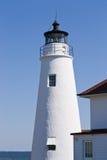 Bucht-Punkt-Leuchtturm-Kontrollturm Lizenzfreies Stockfoto