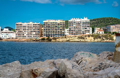 Bucht Sans Antonio de Portmany, Ibiza Lizenzfreies Stockbild