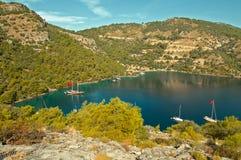 Bucht Sarsala in der Türkei Stockbilder