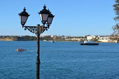 Bucht in Sewastopol, Krim lizenzfreies stockfoto