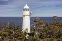 Bucht-Stier-Leuchtturm, Neufundland lizenzfreies stockfoto