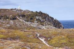 Bucht-Stier-Leuchtturm, Neufundland stockfoto