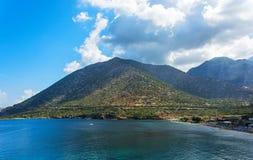Bucht-Strand Livadi im Dorf von Bali in Kreta Lizenzfreie Stockfotografie