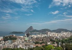 Bucht Sugarloaf und Guanabara Lizenzfreie Stockfotos