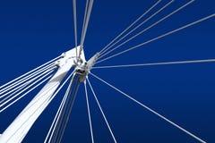 Bucht - Teil der Brücke - Stahlbau lizenzfreie stockfotos