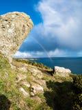 Bucht und Regenbogen Lizenzfreie Stockfotografie