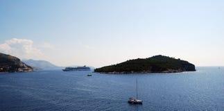 Bucht von Dubrovnik, Kroatien Balkan, adriatisches Meer, Europa Lizenzfreies Stockbild