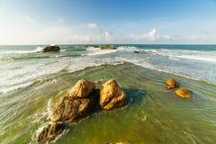 Bucht von Galle auf der S?dwestk?ste von Sri Lanka lizenzfreie stockfotos