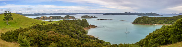 Bucht von Inseln Neuseeland stockfoto