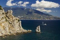 Bucht von Jalta Stockbild