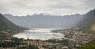 Bucht von Kotor in Montenegro Lizenzfreies Stockfoto