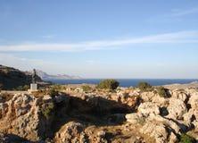 Bucht von Lindos, Rhodos-Insel Stockfotos