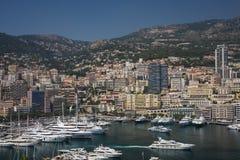 Bucht von Monaco Stockfoto