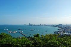 Bucht von Pattaya lizenzfreies stockbild
