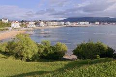 Bucht von Saint-Jean-De Luz in Frankreich Stockbild