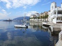 Bucht von Tivat im Fall Lizenzfreie Stockfotografie