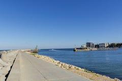 Buchtansicht der Hafenstadt von Tomis, Constanta Stockbild