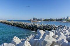 Buchtansicht der Hafenstadt von Tomis, Constanta Lizenzfreie Stockbilder
