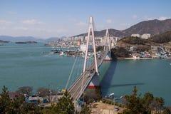 Buchtbrücke in Yeosu Stockbilder
