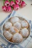 Buchteln - sweet german yeast dumplings Stock Photos