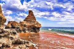 Buchten im Strand Lizenzfreie Stockfotos