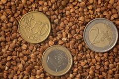 Buchweizen, Lebensmittelhintergrund Stockfotos
