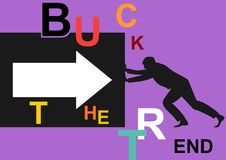 Buck тенденция иллюстрация штока