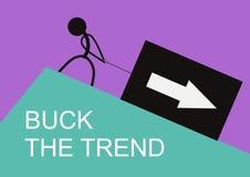 Buck тенденция иллюстрация вектора