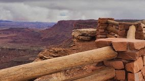 Buck Canyon Fences fotografia stock