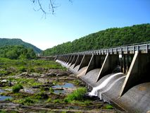 Buck Dam. Located in Carroll County, Virginia, is one of five dams that impede the free-flowing New River Stock Image