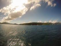 Buck Island, i Caraibi - 2019 Spiaggia di Paradise nel mar dei Caraibi immagine stock libera da diritti