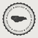 Buck Island Reef-sticker royalty-vrije illustratie