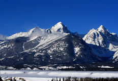 Buck Mountain in the Grand Teton Mountain Range in Wyoming stock images