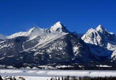 Buck Mountain nella grande catena montuosa di Teton nel Wyoming immagini stock