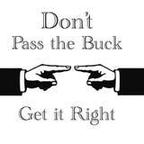 buck przepustki znak Zdjęcie Stock